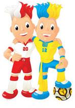 Trix et Flix - Mascottes de l'Euro 2012